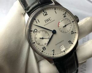 IWC Portugieser Automatic 7 Day Power Reserve Reference 500705 Blue Hand & Index