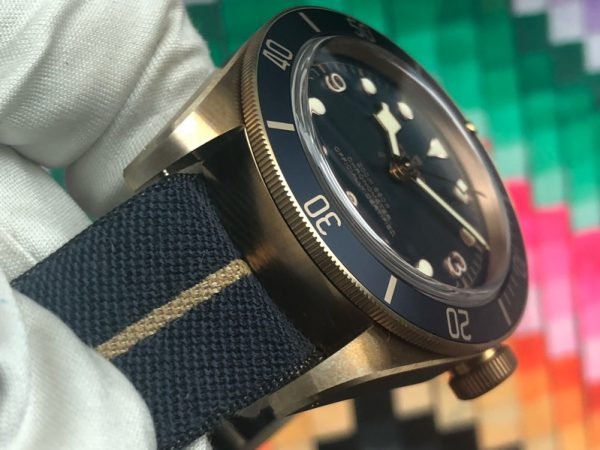 Tudor Heritage Black Bay Bronze Blue Dial Bucherer Limited Edition 79250B