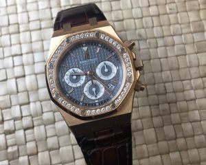 Audemars Piguet Royal Oak Chronograph 18K Rose Gold Diamond Bezel Reference 26557OR.ZZ.D098CR.02
