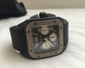 Cartier Santos XL Chronograph in Titanium with BLACK DLC Reference W2020005