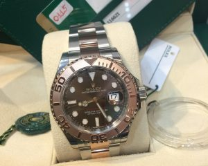 New Rolex Yacht Master Two Tone SS/RG Chocolate 116621