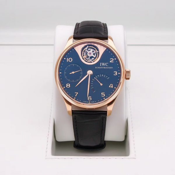 IWC Portuguese Tourbillon Mystere Black Dial Rose Gold 504210 - Limited Edition of 500pcs