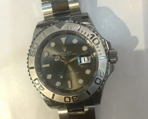 Yacht Master Dark Rhodium with blue index 116622
