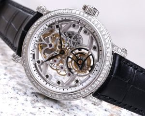 Franck Muller Skeleton Tourbillon Classic White Gold Diamond case Reference  7002 T SQT D