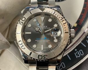 Rolex Yacht Master Dark Rhodium with blue index 116622