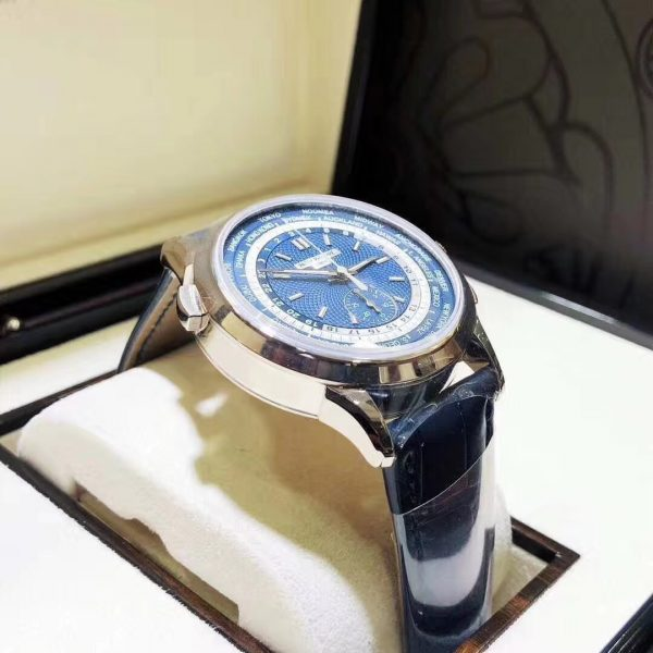 Patek Philippe World Time Chronograph White Gold 5930G Blue Dial