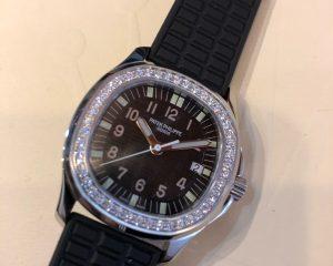 Patek Philippe Aquanaut Stainless Steel With Diamonds Black Quartz 5067A-001