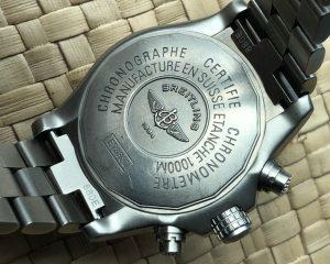 BREITLING Chronograph AVENGER MI Titanium E7336009 with Bracelet & Rubber Strap