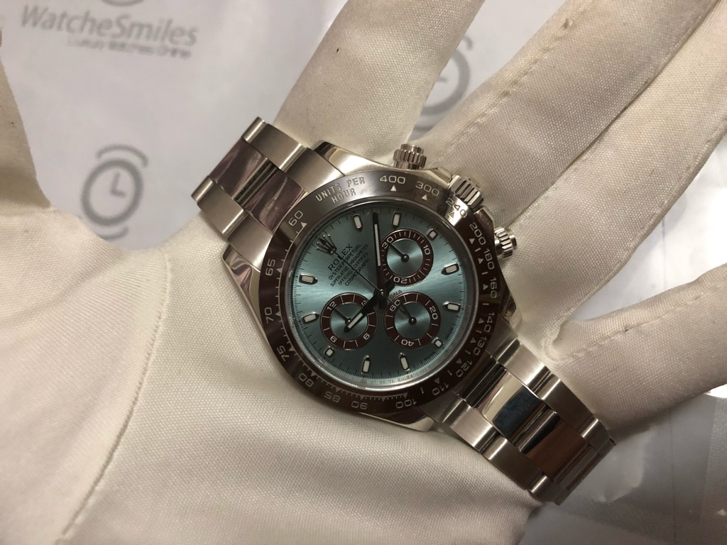 Sold Mint Rolex Cosmograph Daytona Platinum 116506 Ice Blue Dial