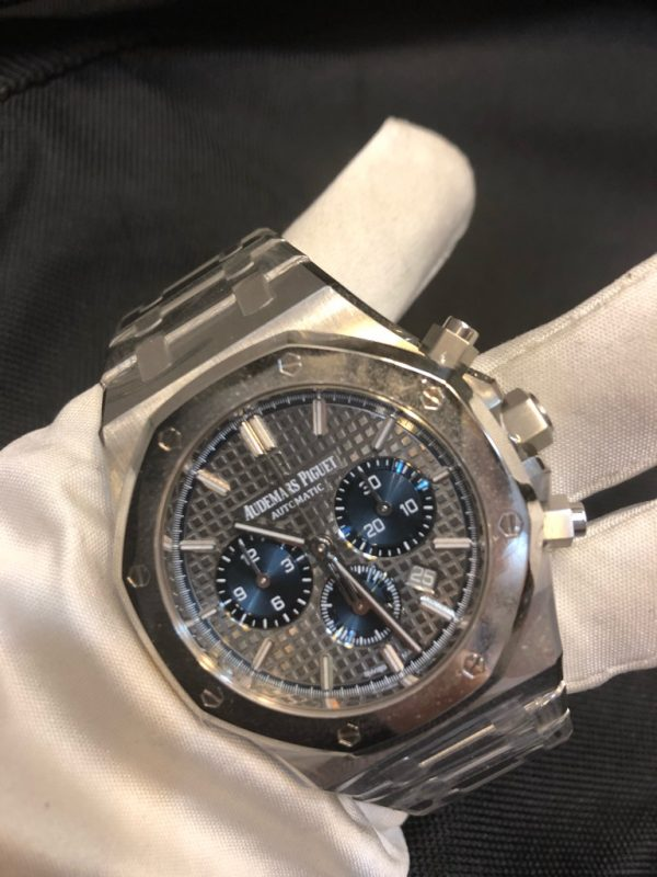 New Audemars Piguet Royal Oak Reference 26331IP.OO.1220IP.01 J Series Gery/Blue Dial, Titanium / Platinum Made Limited Edition