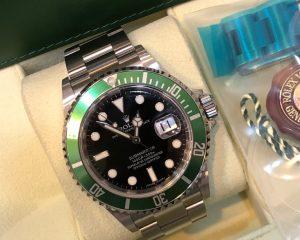 Rolex Submariner 16610LV Green 50th Anniversary Black Date
