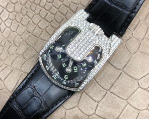 Urwerk 103.09 WG Targa White Gold with aftermarket diamond