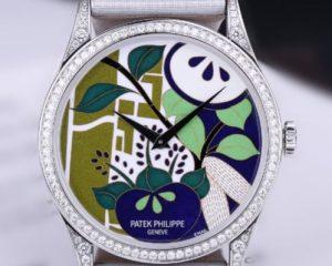 Calatrava Japanese Kimono Platinum Diamond Bezel - 5077/100P-021