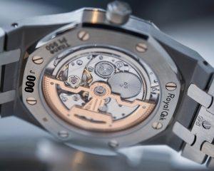 """ROYAL OAK """"JUMBO"""" EXTRA-THIN Platinum/Titanium 15202IP.OO.1240IP.01"""