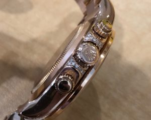 Daytona EveRose Gold 116505 After Market Rainbow Diamond
