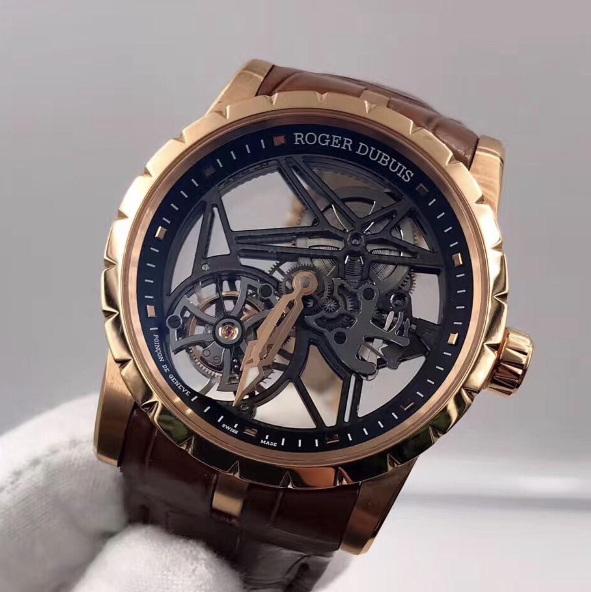 dd1f08c7694 Roger Dubuis EXCALIBUR 42 Skeleton Tourbillon Pink Gold RDDBEX0392 –  Watchesmiles