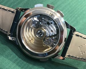 Patek Philippe World Time Chronograph White Gold 5930G Blue Dial
