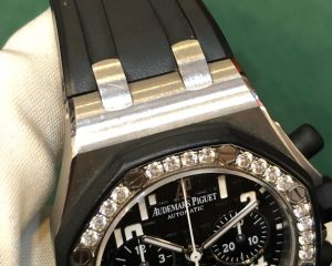 Audemars Piguet Lady Royal Oak Offshore Chronograph Diamond Bezel Black Dial 26048SK.ZZ.D002CA.01