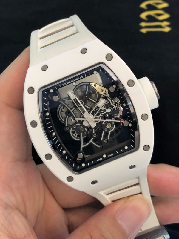 Richard Mille RM055 Bubba Watson White Ceramic & Titanium