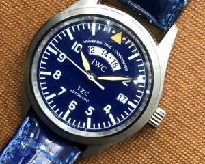 IWC Pilot UTC TZC IW325103 Limited Edition Blue Dial in Platinum