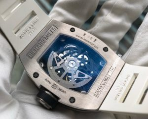 Richard Mille RM010 18K White Gold Skeletonised Automatic Date
