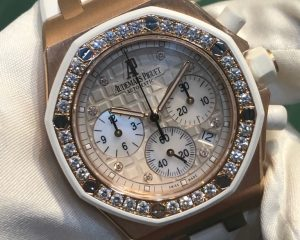 Royal Oak Offshore Lady Chronograph Rose Gold Diamond Bezel 26048OK.ZZ.D010CA.01