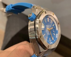 Audemars Piguet Royal Oak Offshore Diver Turquoise Blue Boutique Edition 15710ST.OO.A032CA.01