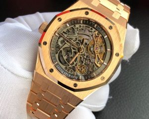 Audemars Piguet Royal Oak Double Balance Wheel Rose Gold Openworked Skeleton 15407OR.OO.1220OR.01