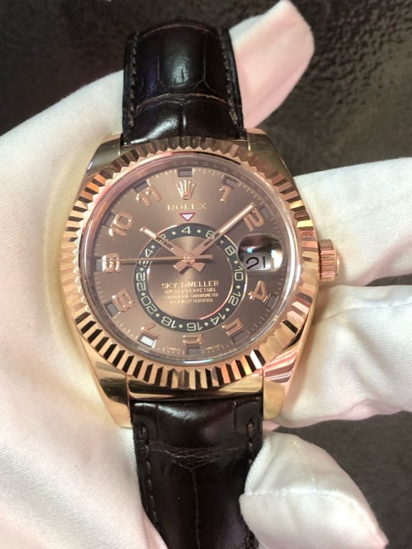 Rolex Sky-dweller Chocolate Brown Everose Gold 326135