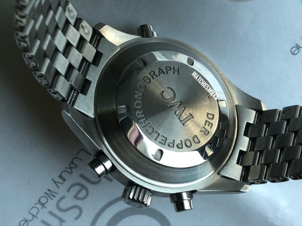 Doppel Chronograph Spitfire White Dial Steel Bracelet IW371348