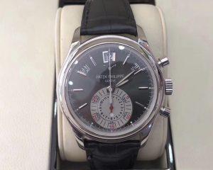 Patek Philippe Annual Calendar Chronograph Grey Dial Platinum 5960P-001