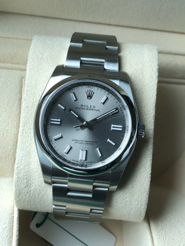 Rolex Oyster Perpetual 116000 Silver Dial 36mm
