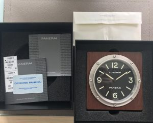 Panerai PAM254 Desk/Table Clock Quartz Box & Card
