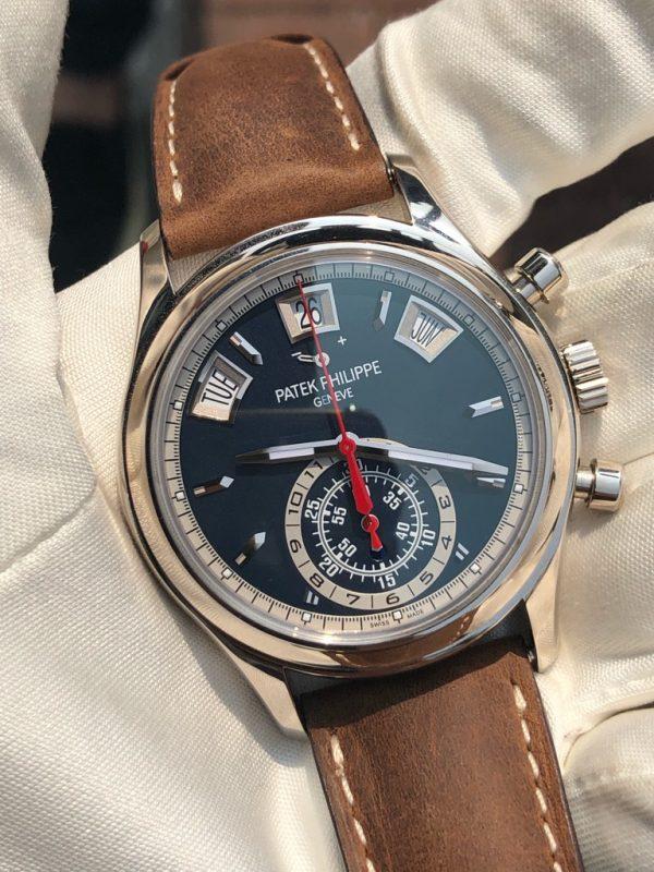 Patek Philippe Annual Calendar Chronograph Blue Dial 5960/01G-001