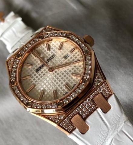 Royal Oak Lady Quartz Rose Gold Diamond 67652OR.ZZ.D011CR.0101