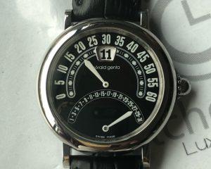 Gerald Genta Jumping Hour BI-RETROGRADE Date/Minute Automatic G.3734