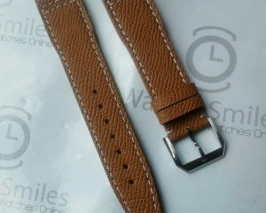 Brown Hermes Style Calf  strap for IWC Big Pilot Model 22/18