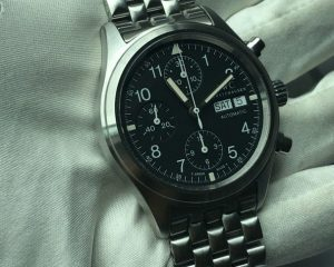 IWC Pilot Spitfire Watch Chronograph Automatic Day, Date IW3706 Black Dial