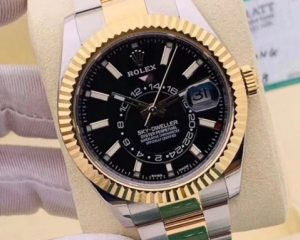 New Rolex Sky-Dweller Oyster Perpetual Black Dial 18K/SS 326933