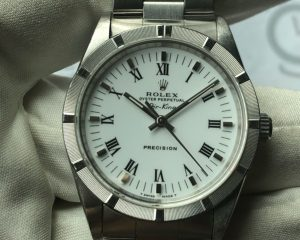 Air-king 14010 Mens Automatic Watch Silver Dial Stainless Steel 34mm