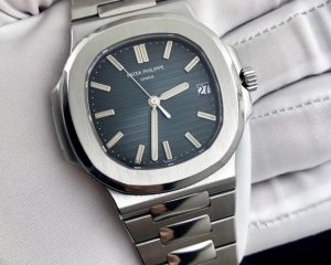 Patek Philippe Nautilus Blue Dial 5711/1A-010 Stainless Steel Box & Papers