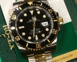 New Rolex Submariner Date Black Dial 18K/SS Automatic 116613LN