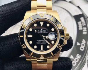 Rolex Submarine Date 18K Yellow Gold 116618LN Black Dial