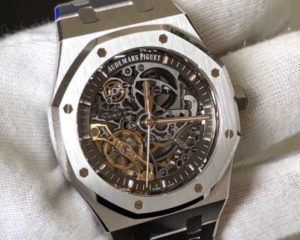 Audemars Piguet Royal Oak Double Balance Wheel Stainess Steel Openworked Skeleton 15407ST.OO.1220ST.01