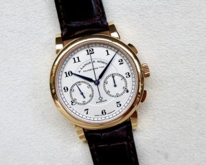 A Lange & Sohne 1815 Chronograph Silver Dial 18K Rose Gold 402.032