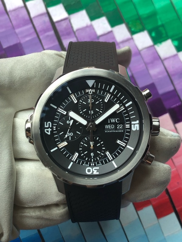 IWC Aquatimer Chronograph IW376803 Black Dial Stainless Steel 44mm