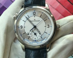 Jaeger-LeCoultre Master Geographic Q1428530 Silver Steel/Leather 39mm