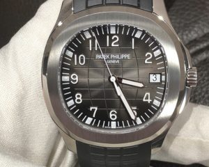 Patek Philippe Aquanaut Date Black Strap Stainless Steel 5167A-001