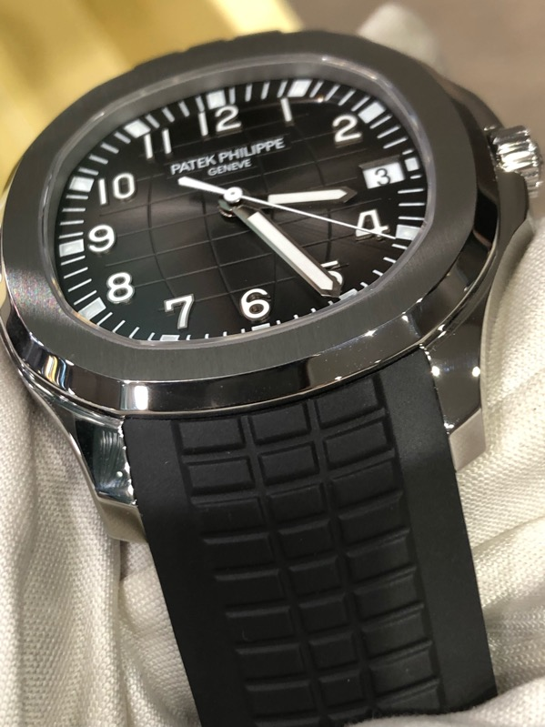 Aquanaut Date Black Strap Stainless Steel 5167A-001