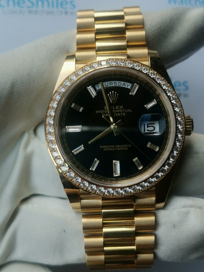 FSRolex Oyster Perpetual Day,Date President 18K Yellow Gold
